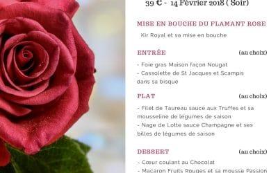 Menu St Valentin 2018
